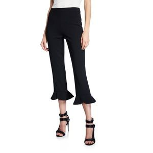 Alice + Olivia Alena High Waist Split Ruffle Pants